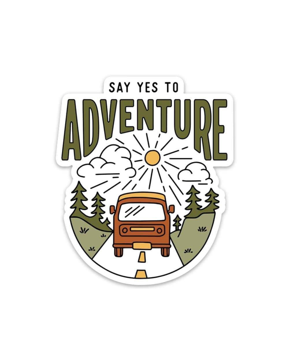 Sticker Say Yes To Adventure