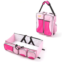 2 in 1 Baby Folding Crib Backpack