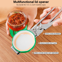 Adjustable Multifunctional Stainless Steel Can Opener