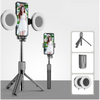 4in1 Wireless bluetooth Selfie Stick LED Ring light