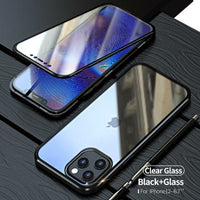 TWO SIDE TEMPERED GLASS MAGNETIC ADSORPTION PHONE CASE FOR IPHONE 12