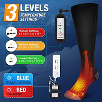 WarmFEET Electric-Heated Rechargeable Socks