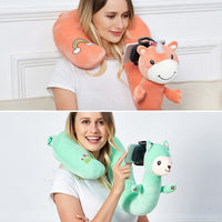 2-in-1 U-Shaped Neck Pillow With Lazy Phone Holder V2