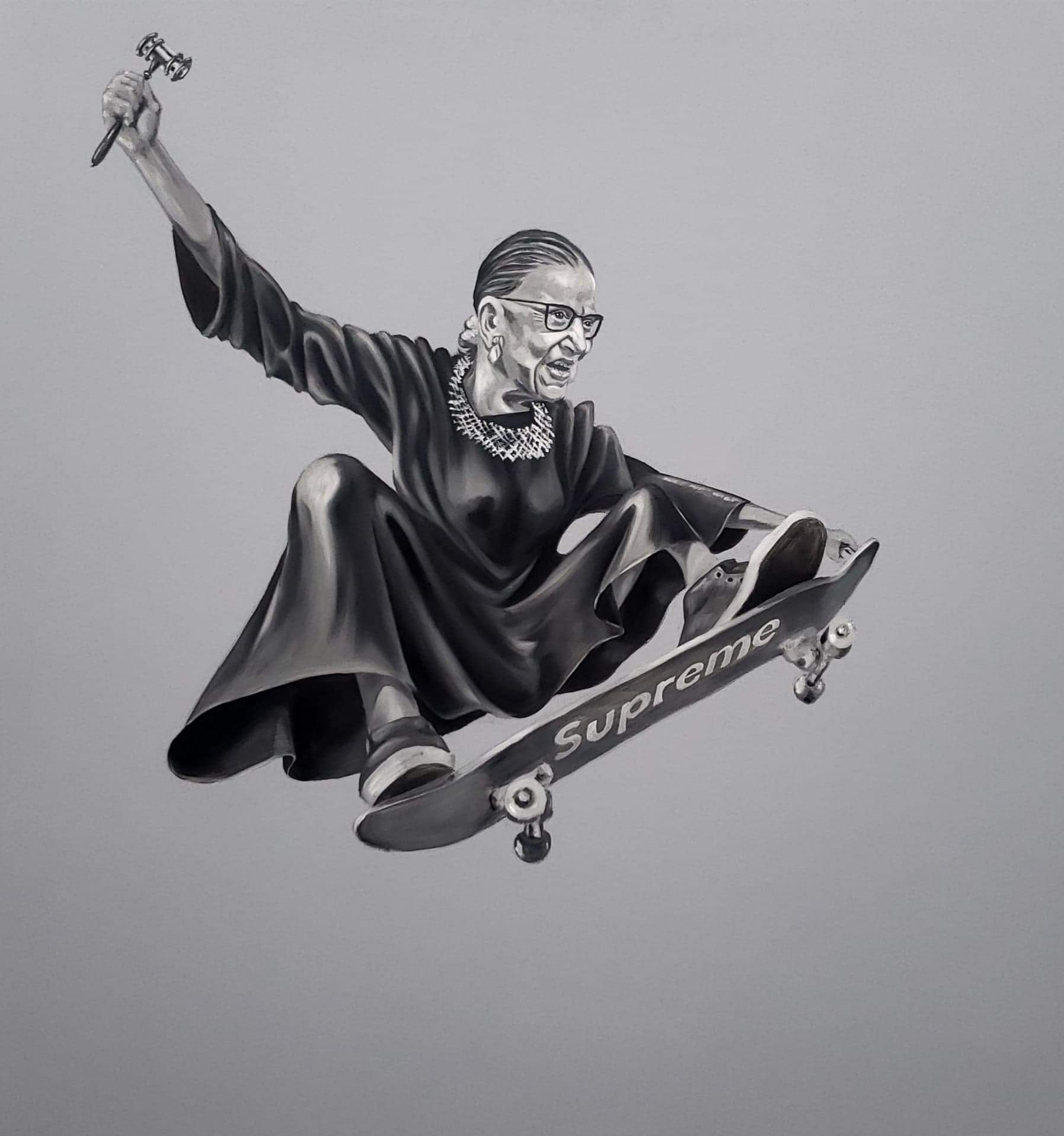 "Ruth ""Skater"" Ginsburg LIMITED Edition Prints"