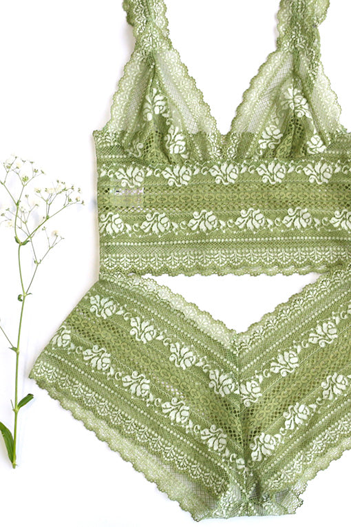 Green Lingerie Set Brighton Lace
