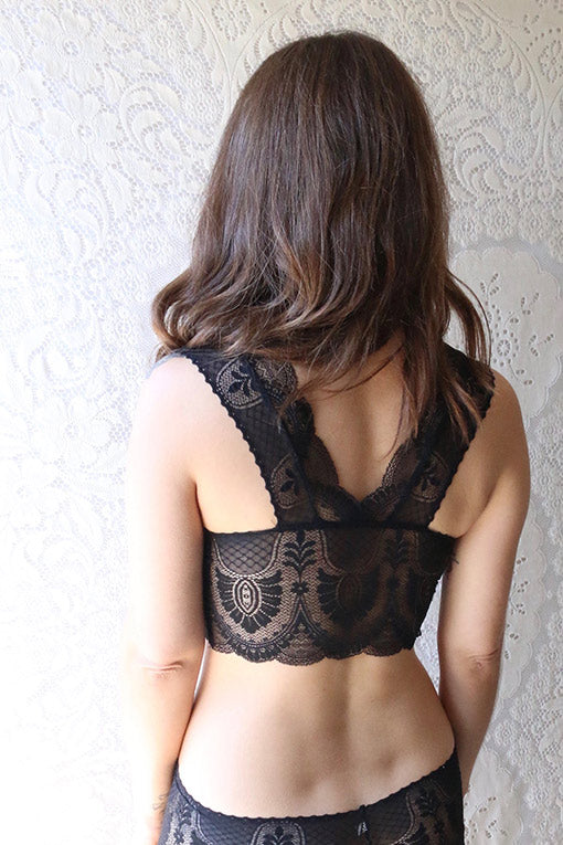 Black lace francesca bralette