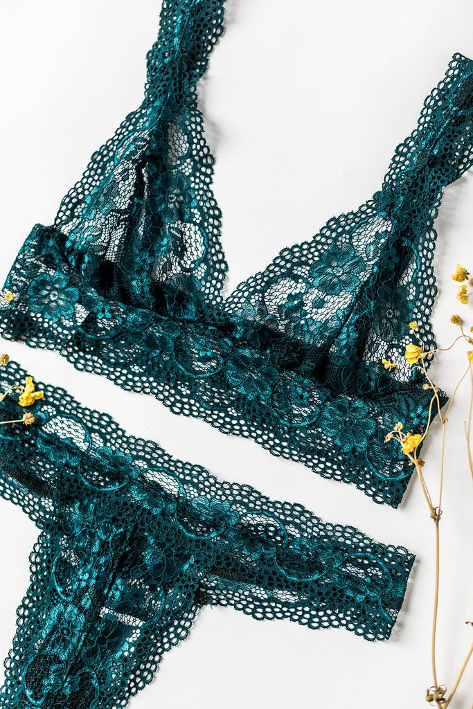 Blue Lagoon Lace Tiger Lily Bralette