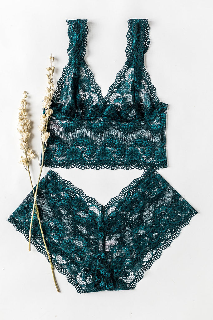 Blue Lagoon Lace French Knickers