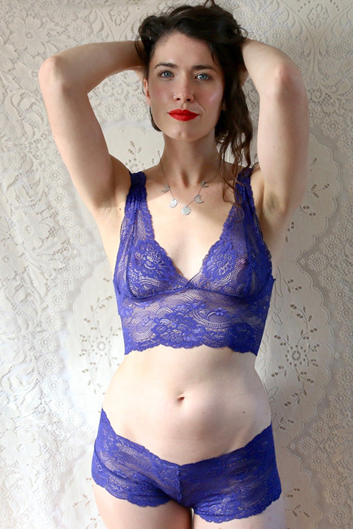 Blue Lace Lingerie Set