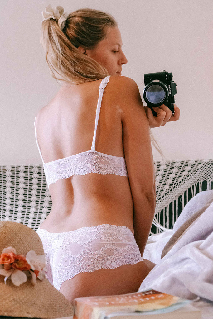 White Ophelia Lace Knickers