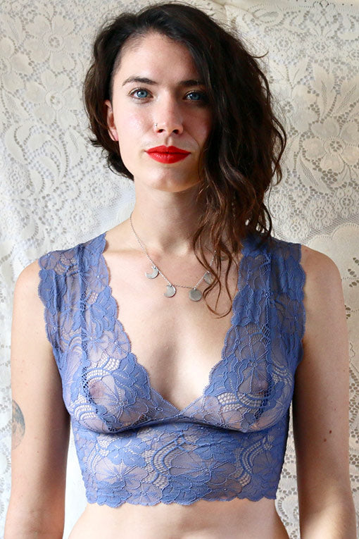 Sheer Blue lace bralette