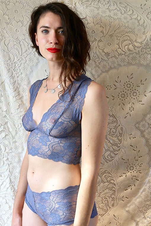 Blue Lace Underwear Set