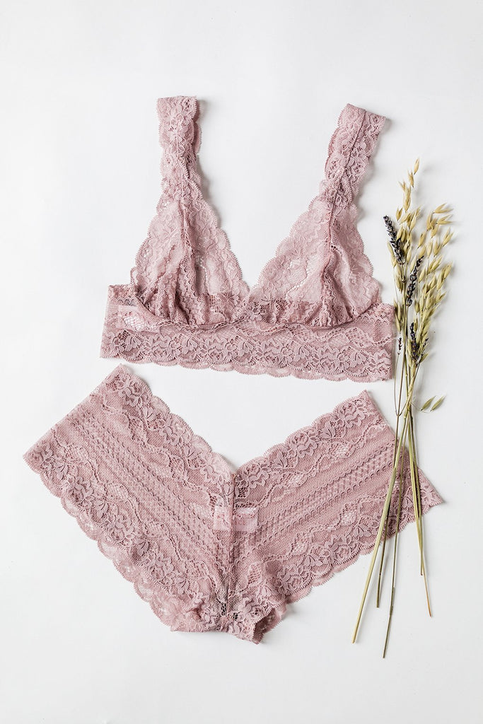 Dusty Pink Lace Tiger Lily Bralette