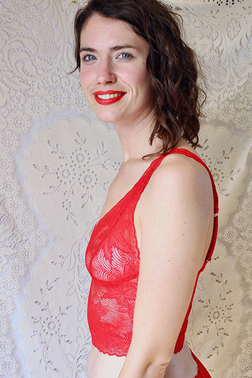 Red Maple Leaf Bralette