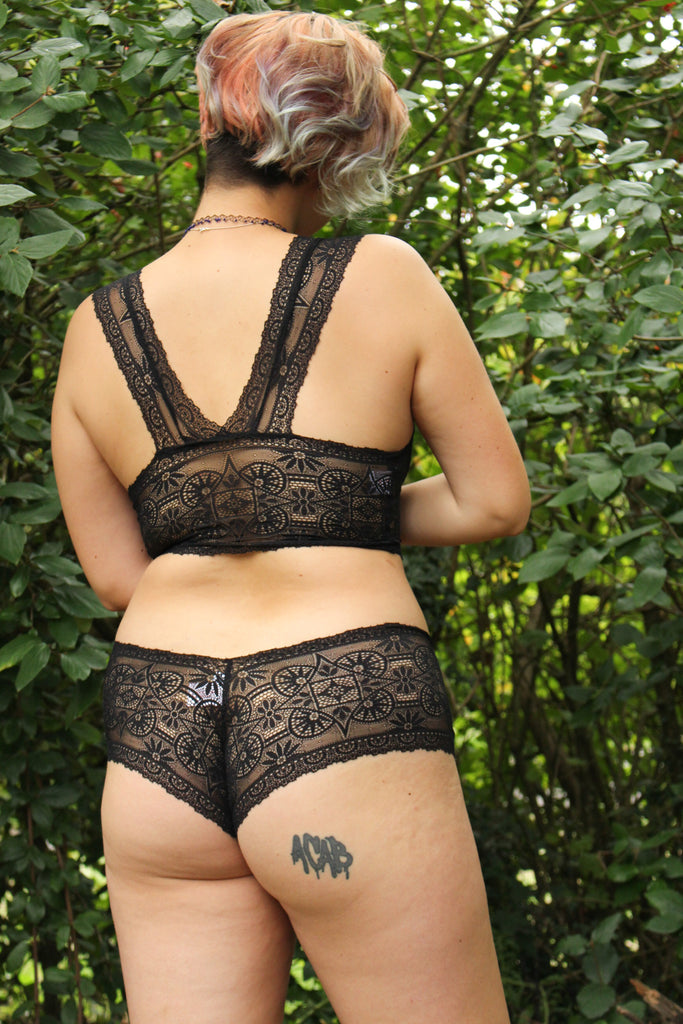 Black Titania Lace Racerback Set