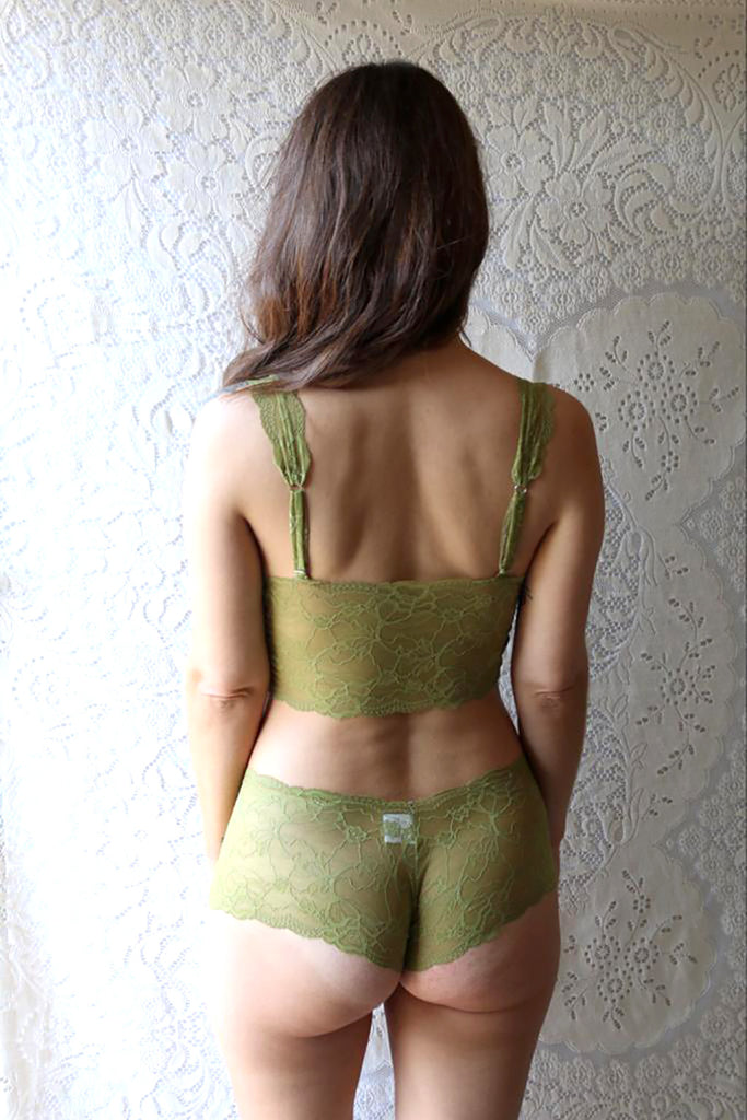 Pear Green Lace Lingerie Set