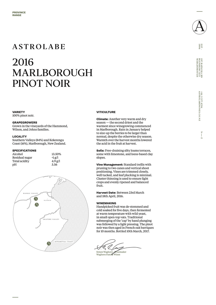 Astrolabe 'Marlborough' Pinot Noir