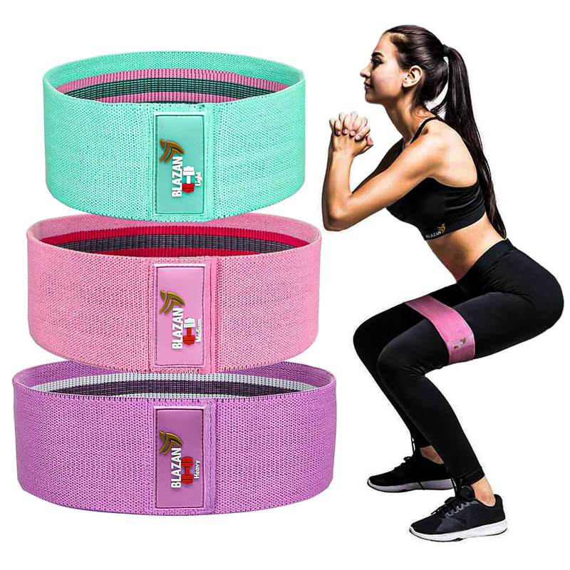 Fabric Resistance Booty Bands | Set of 3 Bands (S, M, L) - Blazan Store