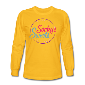 Socky's Sweets Men's Long Sleeve T-Shirt - gold