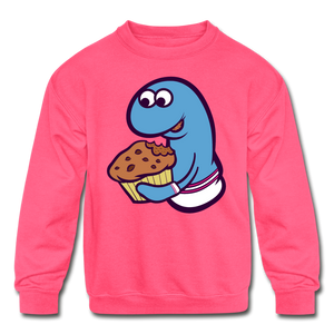 Open image in slideshow, Socky Kids' Crewneck Sweatshirt - neon pink
