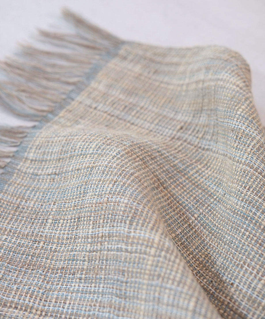 Stole | Two beams ghicha large, grayish blue, 2209BG