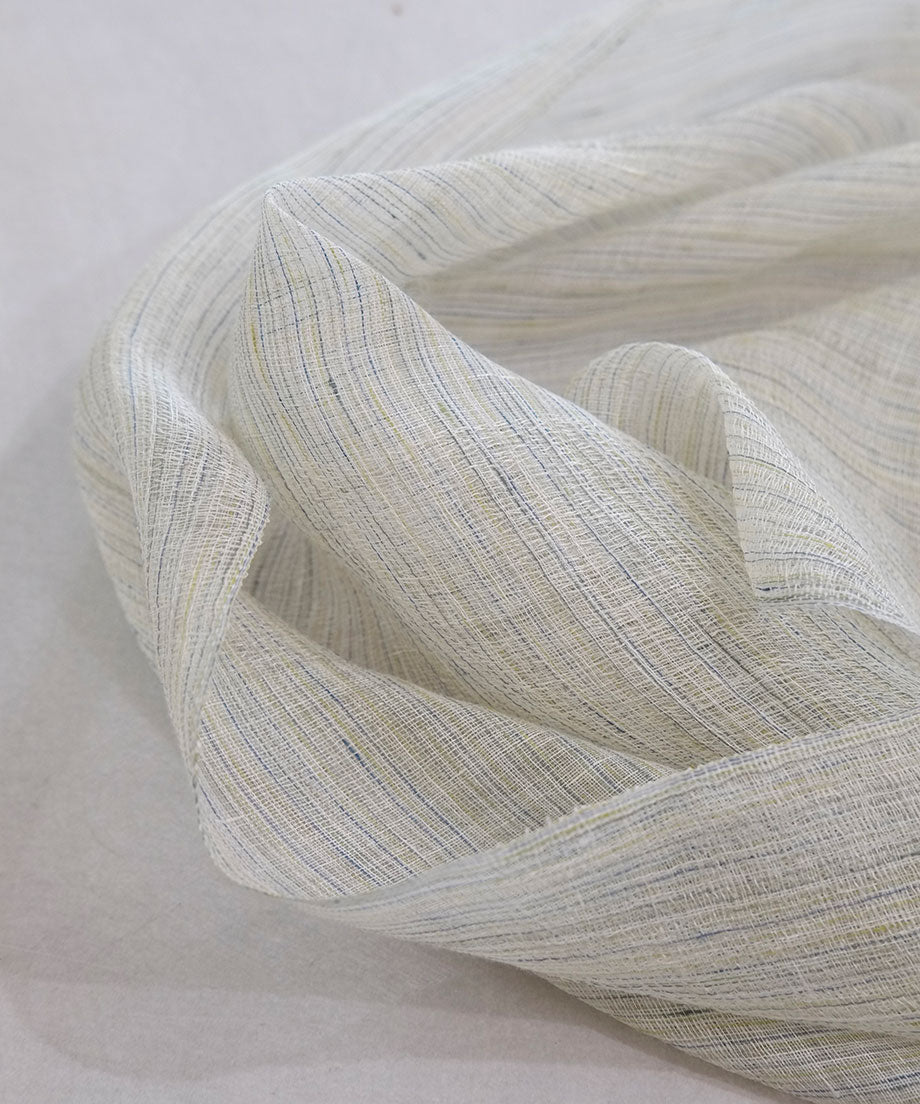 Stole | Yuragi with thin linen, white, 2399W
