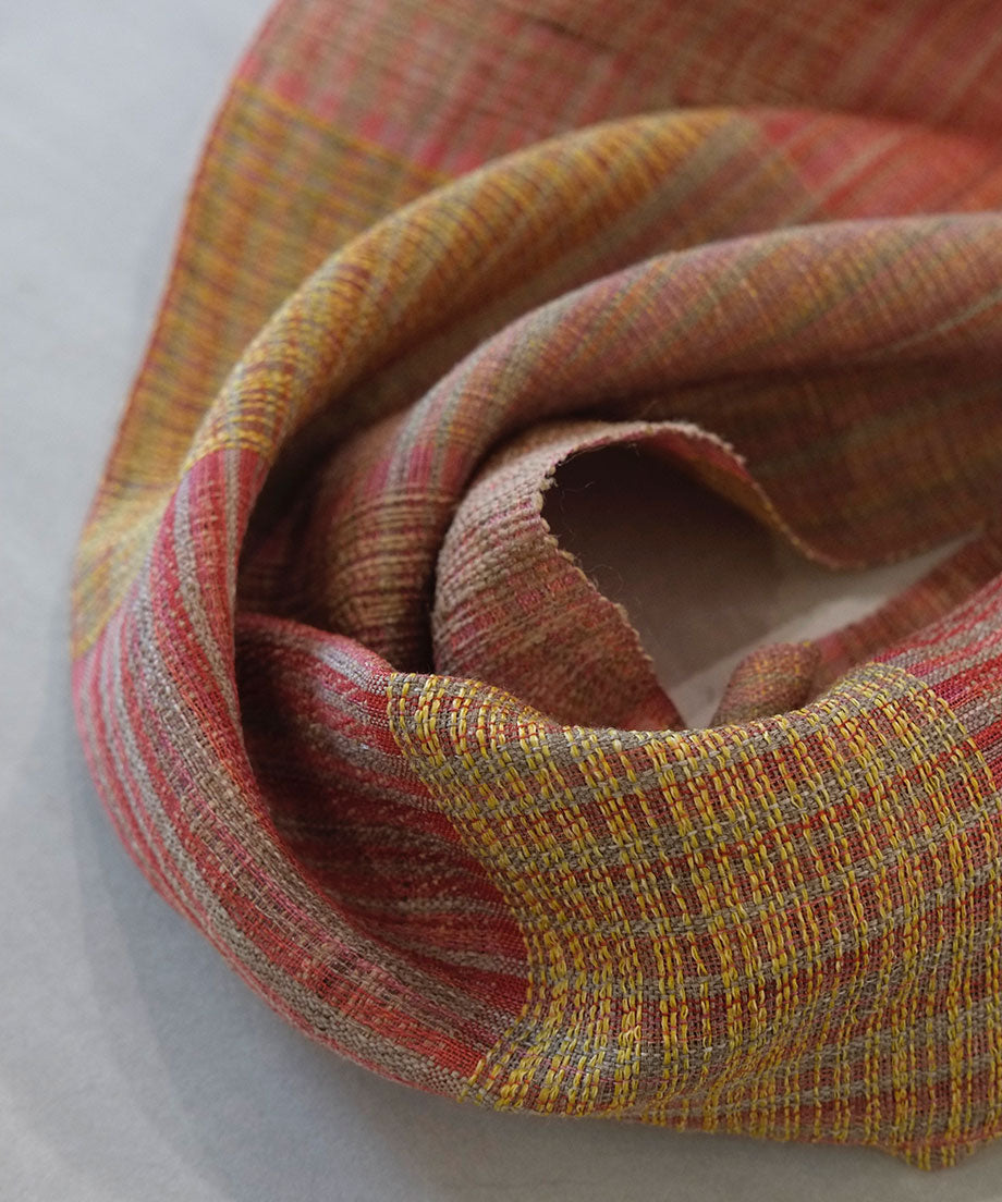 Stole | Bark twill weave, pink, 2645p