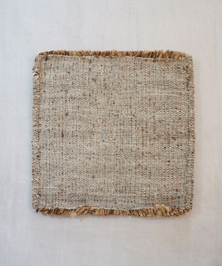Mini rug, tussar silk, natural, 7987
