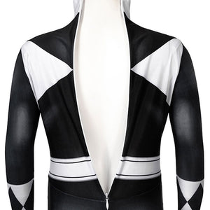 Kids Power Rangers Black Ranger Zentai Jumpsuit Cosplay Costume