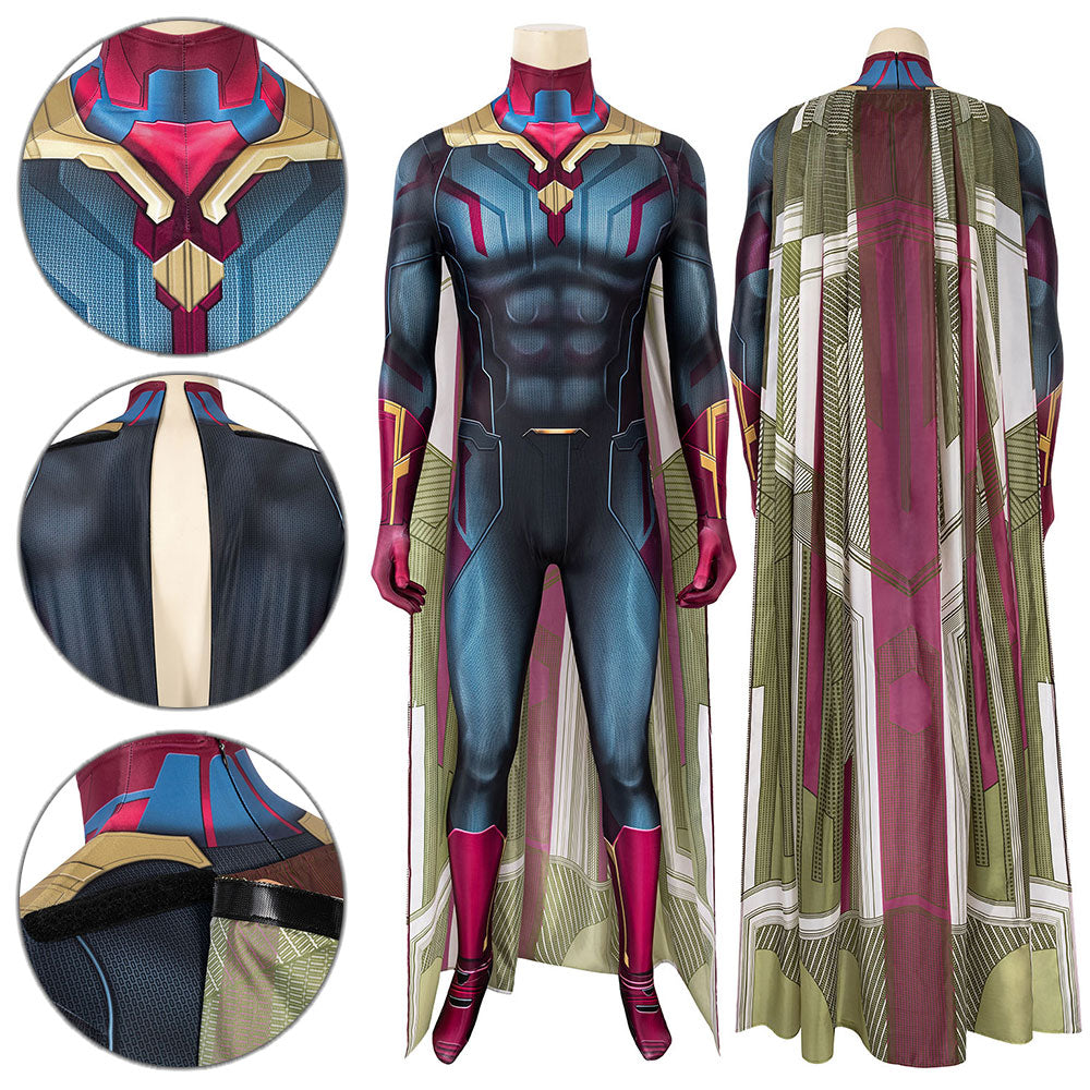 Vision Avengers: Endgame Zentai Jumpsuit Cosplay Costume - Free Shipping