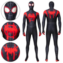 Load image into Gallery viewer, Spider-Man Miles Morales Spider-Man: Into the Spider-Verse Jumpsuit Cosplay Costume - Free Shipping