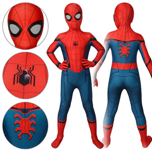 Kids Spider-Man Peter Parker Stark Suit Spider-Man: Far From Home Jumpsuit Cosplay Costume - Free Shipping
