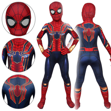 Kids Spider-Man Peter Parker Iron Spider Suit Spider-Man: Far From Home Jumpsuit Cosplay Costume - Free Shipping