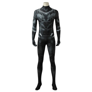 Black Panther T'Challa Marvel Captain America: Civil War Jumpsuit Cosplay Costume - Free Shipping