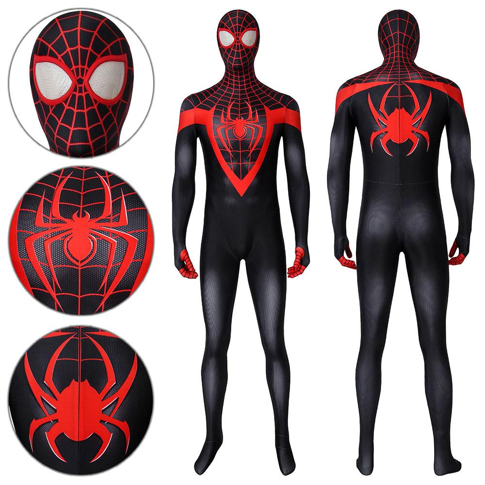 Spider-Man Miles Morales Ultimate Spider-Man Miles Morales Jumpsuit Cosplay Costume - Free Shipping