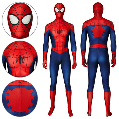 Spider-Man Peter Parker Ultimate Spider-Man Season1 Jumpsuit Cosplay Costume - Free Shipping