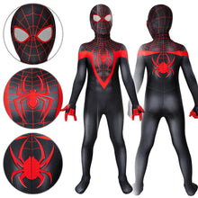 Load image into Gallery viewer, Kids Spider-Man Miles Morales Ultimate Spider-Man Miles Morales Jumpsuit Cosplay Costume - Free Shipping