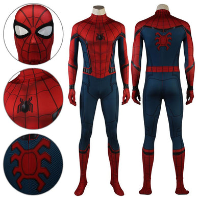 Spider-Man Peter Parker Stark Suit Spiderman Spider-Man: Homecoming Jumpsuit Cosplay Costume - Free Shipping
