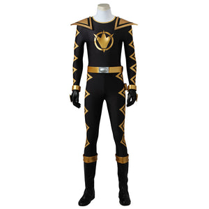 Power Rangers Dino Thunder Black Dino Ranger Cosplay Costume