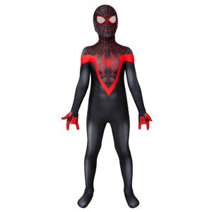 Kids Spider-Man Miles Morales Ultimate Spider-Man Miles Morales Jumpsuit Cosplay Costume - Free Shipping