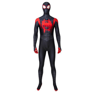 Spider-Man Miles Morales Spider-Man: Into the Spider-Verse Jumpsuit Cosplay Costume - Free Shipping