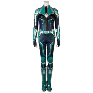Carol Danvers Green Cosplay Costume