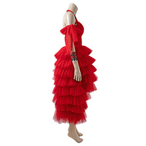 Harley Quinn The Suicide Squad 2021 Movie Red Dress Cosplay Costume