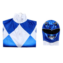 Load image into Gallery viewer, Kids Power Rangers Blue Ranger Zentai Jumpsuit Cosplay Costume