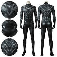 Load image into Gallery viewer, Black Panther T'Challa Marvel Captain America: Civil War Jumpsuit Cosplay Costume - Free Shipping