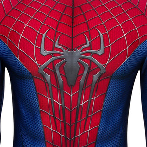 Spider-Man Peter Parker The Amazing Spider Man 2 Jumpsuit Cosplay Costume - Free Shipping