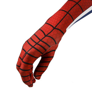 Peter Parker Punk Rock Suit PS4 Spider-Man Jumpsuit Cosplay Costume - Free Shipping