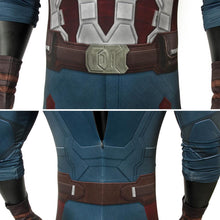 Load image into Gallery viewer, Captain America Steven Rogers Marvel Avengers 3: Infinity War Jumpsuit Cosplay Costume - Free Shipping