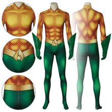 Load image into Gallery viewer, Aquaman Arthur Curry DC Comics 2018 Movie Aquaman Jumpsuit Cosplay Costume - Free Shipping