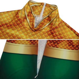 Aquaman Arthur Curry DC Comics 2018 Movie Aquaman Jumpsuit Cosplay Costume - Free Shipping